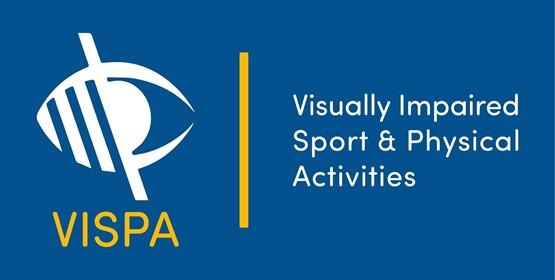 Image of VISPA logo on a blue background